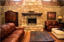 Residential Fireplace Dover Shell Smeared Veneer