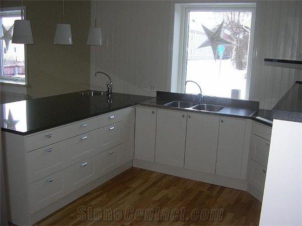 Nero Assoluto Granite Kitchen Countertops From Sweden