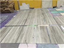 Chinese Price White Wooden Grain Marble Tile