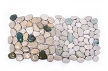 White-Green Sumba Interlock Pebbles Mosaic