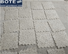 Beige Tumbled Chipped Pebble Stlye Mosaic Tiles