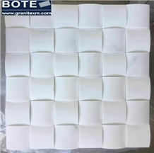 Bread Style Pure White Marble Mosaic Tile