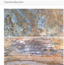 Travertino Blue Anne Tiles, Slabs