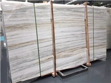 Royal White Wooden Marble Slabs