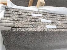 Cheap New G664 Pink Granite Stairs Step Bevel Edge