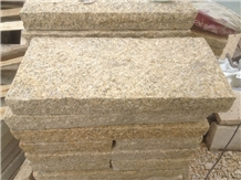 Yellow Granite G682 Chiseled Garden Paving Tiles