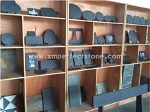 Wholesale Rectangle Black Slate Plate Stone Plate Kitchen Accessories