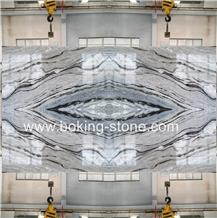 Changbai Blue Danube River White Marble Backlit