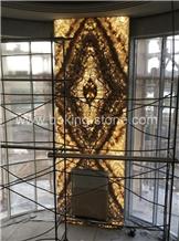 China Rainbow Onyx Backlit Home Decor Panels