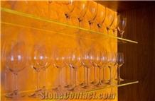 Golden Onyx Agate Backlit Tiles Translucent Stone