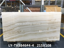 Turkey White Vanilla Onyx Slab