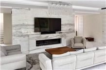 Majestic Neptune Marble Wall Application