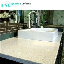 Iced White Quartz Bathroom Countertop