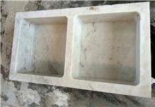 White Marble Wash Basin and Bathroom Farm Sink
