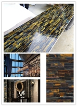Blue Tiger Eye Semiprecious Stone Slabs