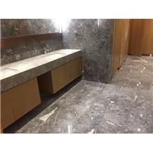 Stone Custom Floor Design Sunny Grey Marble