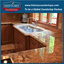 Crema Bordeaux Granite Kitchen Countertops