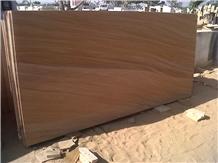 Teak Wood Sandstone Slab