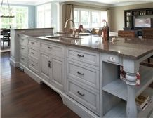 Motain Grey Engineered Quartz Stone Kitchen Countertops & Worktops