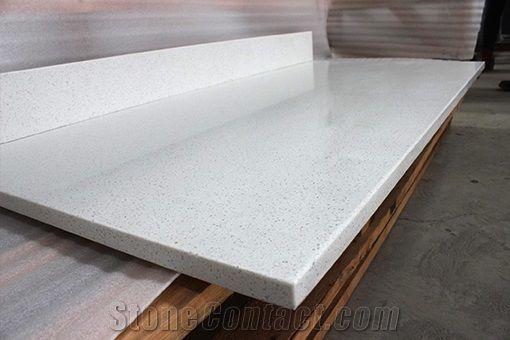 Craystal White China Cheap Quartz Table Tops Xiamen Ouming