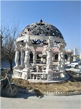 Natural Marble Hand Carved Gazebo Garden Decoration