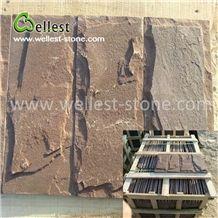 China Warm Brown Sandstone Mushroom Garden Villa Walling Tile