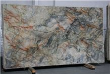 Fusion Quartzite Polished Multicolor Slab