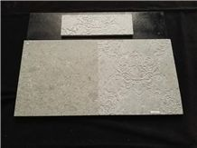 Engraved & Polished 3d Shangri La Grey Marble Wall Tiles -Medium