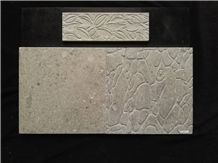 Shangri La Dark Grey Polishing Marble Tiles -Engraved Wall Tiles