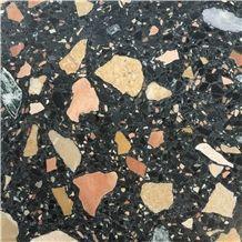 941 Black Terrazzo Agglomerate Tile