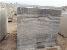 Persian Silver Travertine Block, Iran Grey Travertine