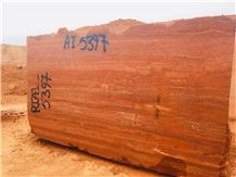 Red Travertine Block, Iran Red Travertine Block