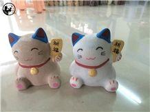 China Bianco Sardo,G623,Lucky Fortune Cat,Shake Hand,Indoor Decoration