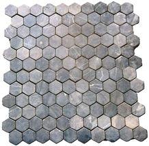 Bagus Natural Stone - Grey Marble Natural Stone Hexagonal 6x6cm