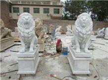 Garden Decoration Status Outdoor Granite Handcarved Lions Sculptures