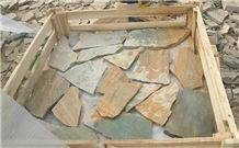 Rusty Slate Crazy Paving,Slate Paving on Mesh, Random Flag Stone