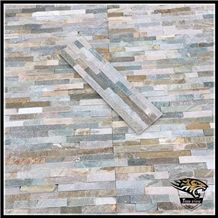 P014 Yellow Wood Grain Veneer Slate Cultured Stone