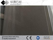 Hs112 Concreta Grey Artificial Quartz Countertop Polished