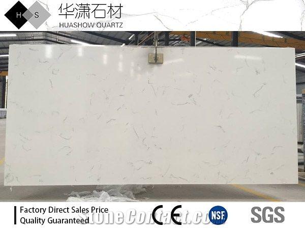 quartz slab for sale quartzite hs3006 carrara white quartz slab customize size on sale from china