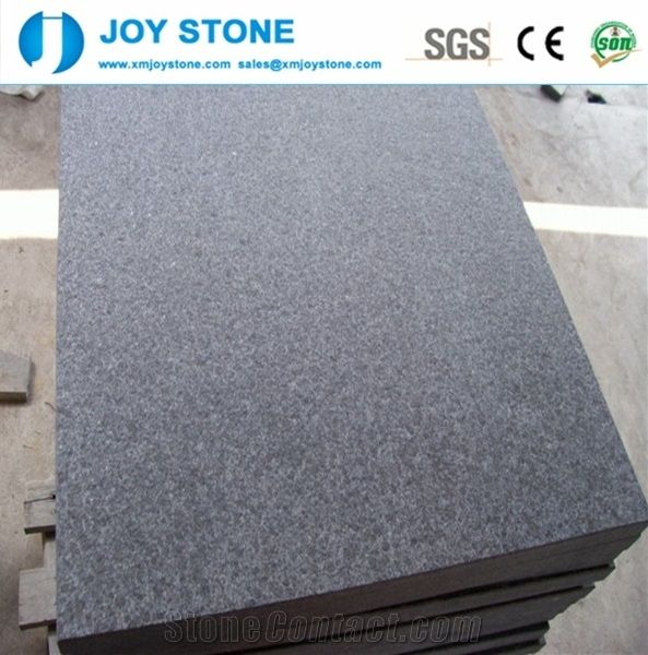 Chinese Black Flamed G684 Granite Floor Tiles Cheap 2018 Xiamen