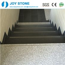 Honed Finish Padang Dunkel Dark Grey G654 Granite Stair Step Raiser