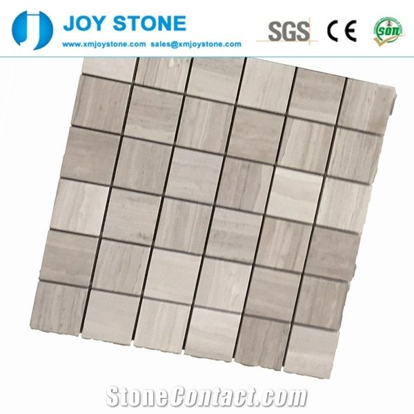 Mix Surface Textures White Marble Mosaic Tiles Wall Art Mosaics from ...