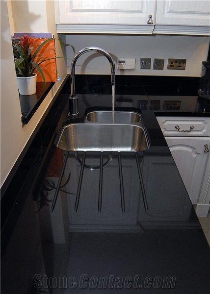 India Black Granite Kitchen Countertop From Poland Stonecontact Com