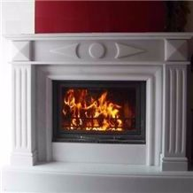 Thassos Crystal White Marble Fireplace