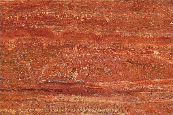 Iran Red Travertine Slabs Tiles from Austria-623683 - StoneContact com