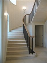 Cantilevered Staircase in Greetham Stone