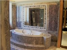 Eclisse Lunare Marble Bathroom Design- Hotel Principe Di Piemonte