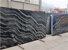 Nero Agata Granite Slabs, Polished