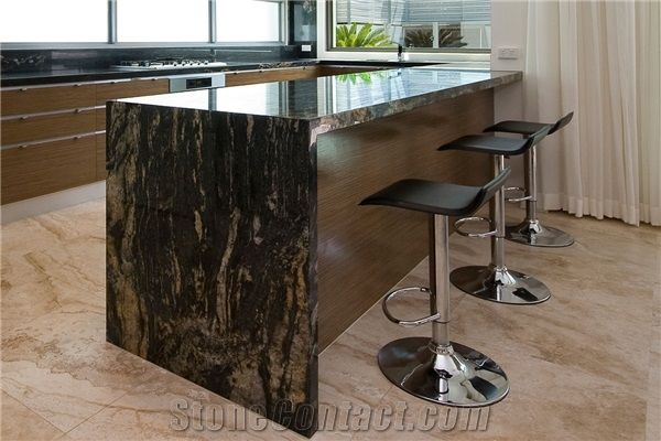 Black Forest Gold Granite Kitchen Bench Top