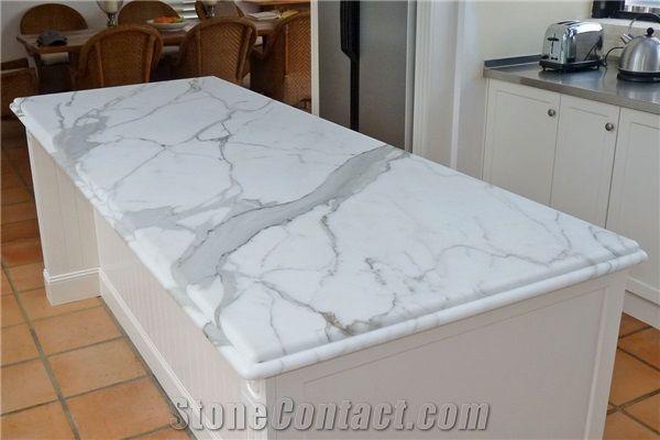 Awe Inspiring Calacatta Marble Kitchen Island Top Bench Top From Machost Co Dining Chair Design Ideas Machostcouk